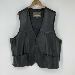 Unik Men's Big and Tall Leather Vest size 54